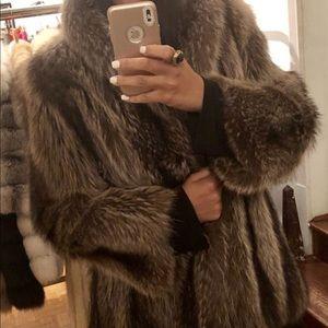 Jackets & Blazers - Raccoon Fur Coat
